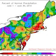June temperatures and precipitation