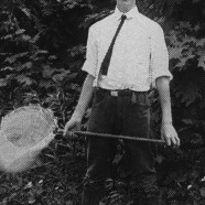 Roger Tory Peterson collecting insects