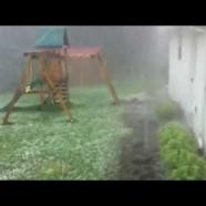 Severe hail in Jamestown