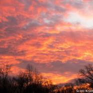 Fiery Winter Sunset